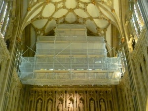 Montana Scaffolding in Wells Cathedral